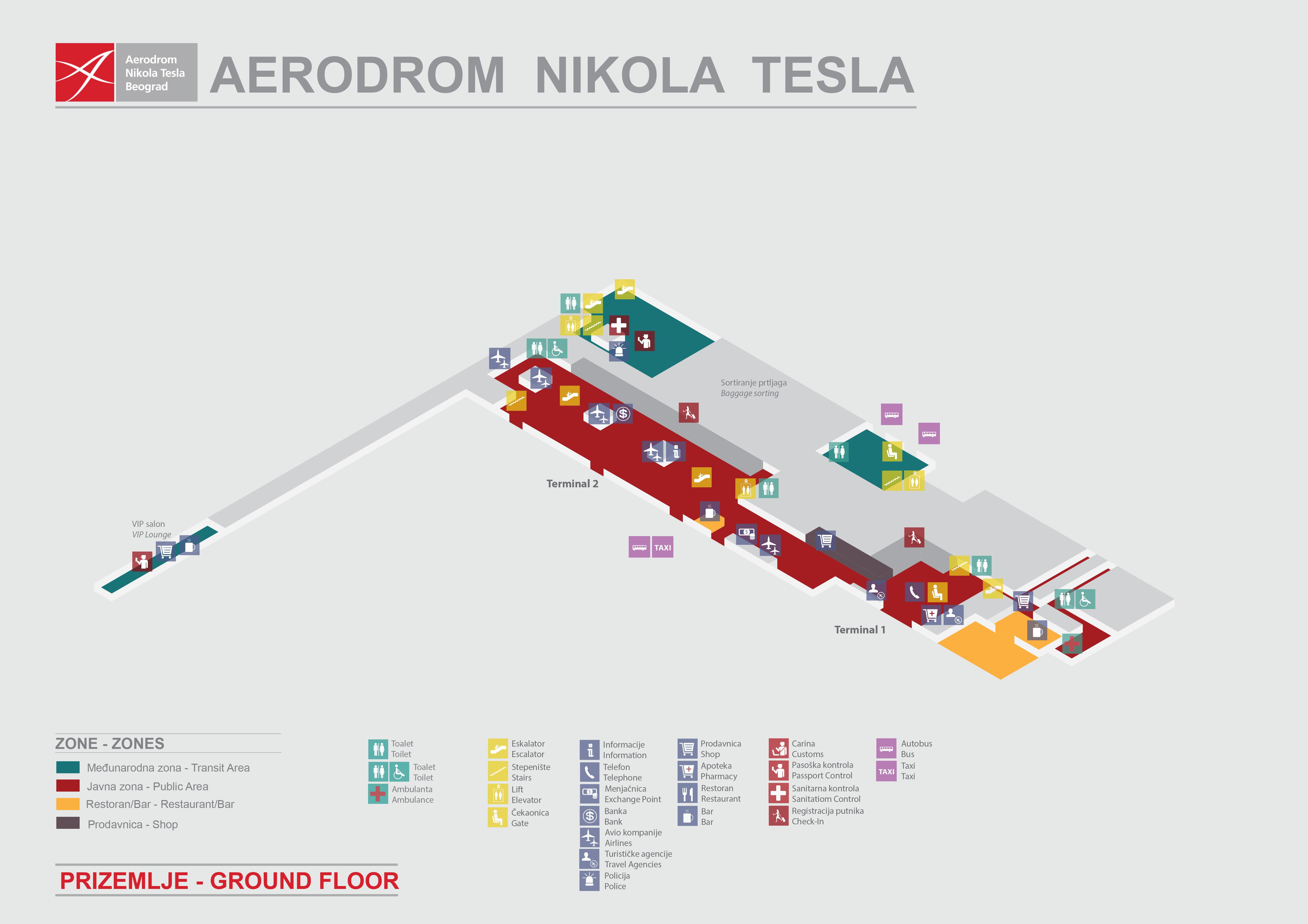Nikola Tesla Beograd Aerodrom Red Letenja I Destinacije Abago