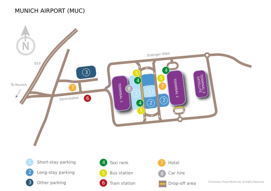 Mapa aerodroma Minhen