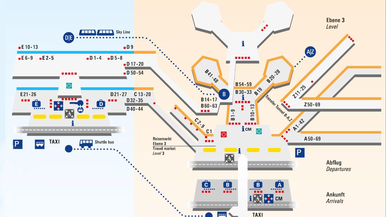 aerodorm Frankfurt na mapi