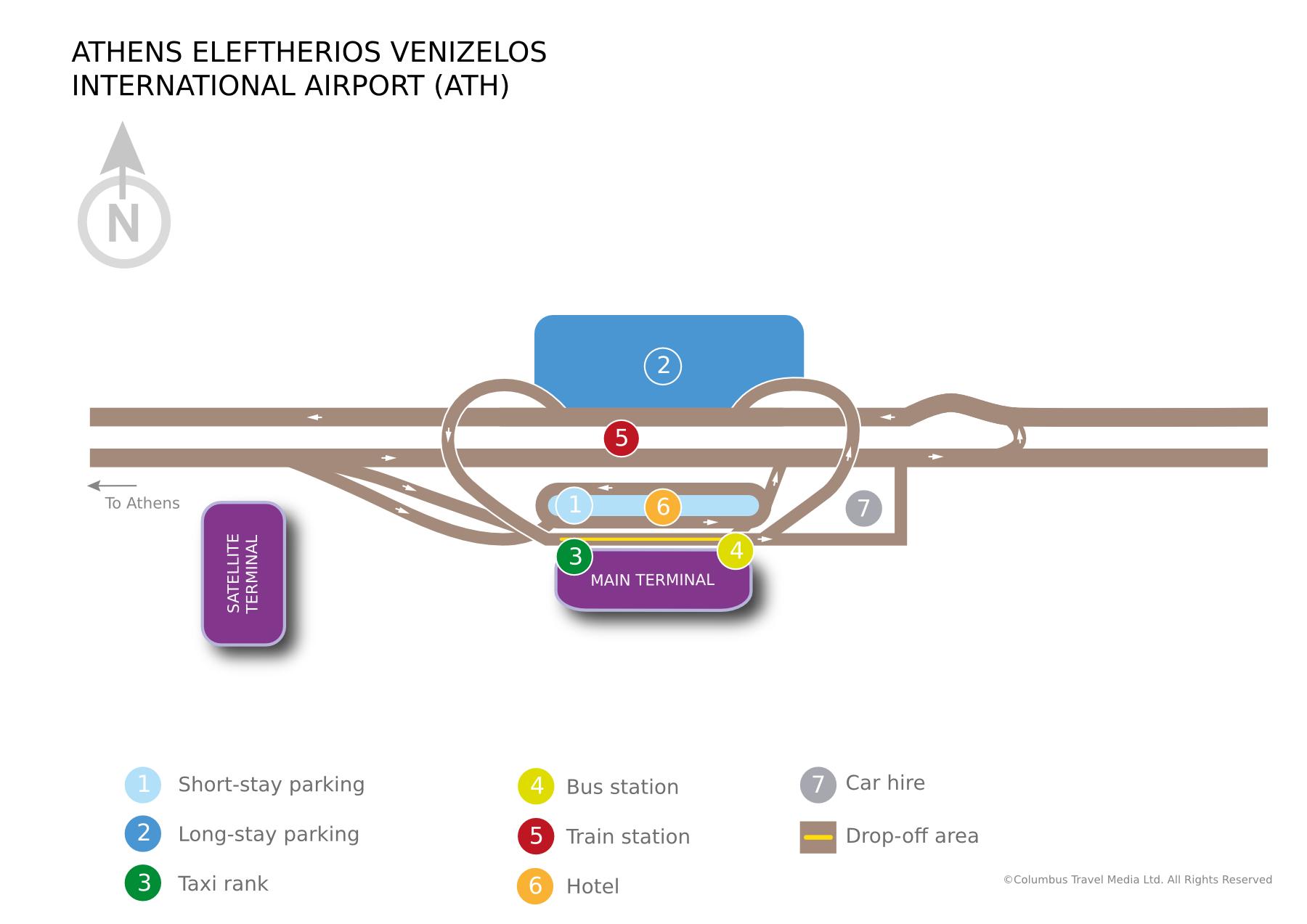 Mapa aerodroma Elefterios Venizelos