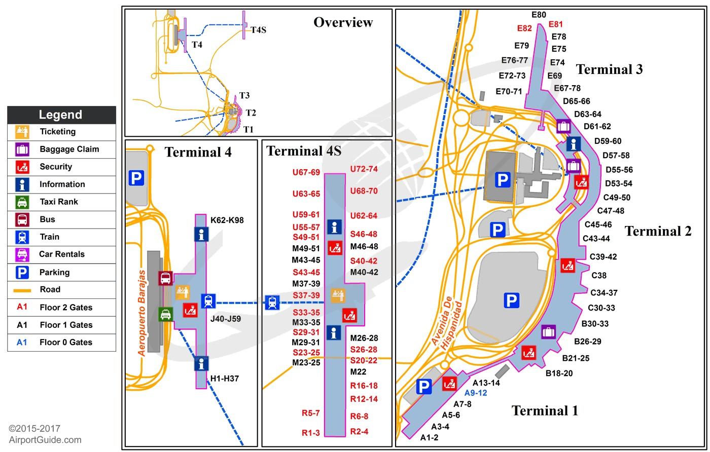 Madrid-Barajas mapa aerodroma