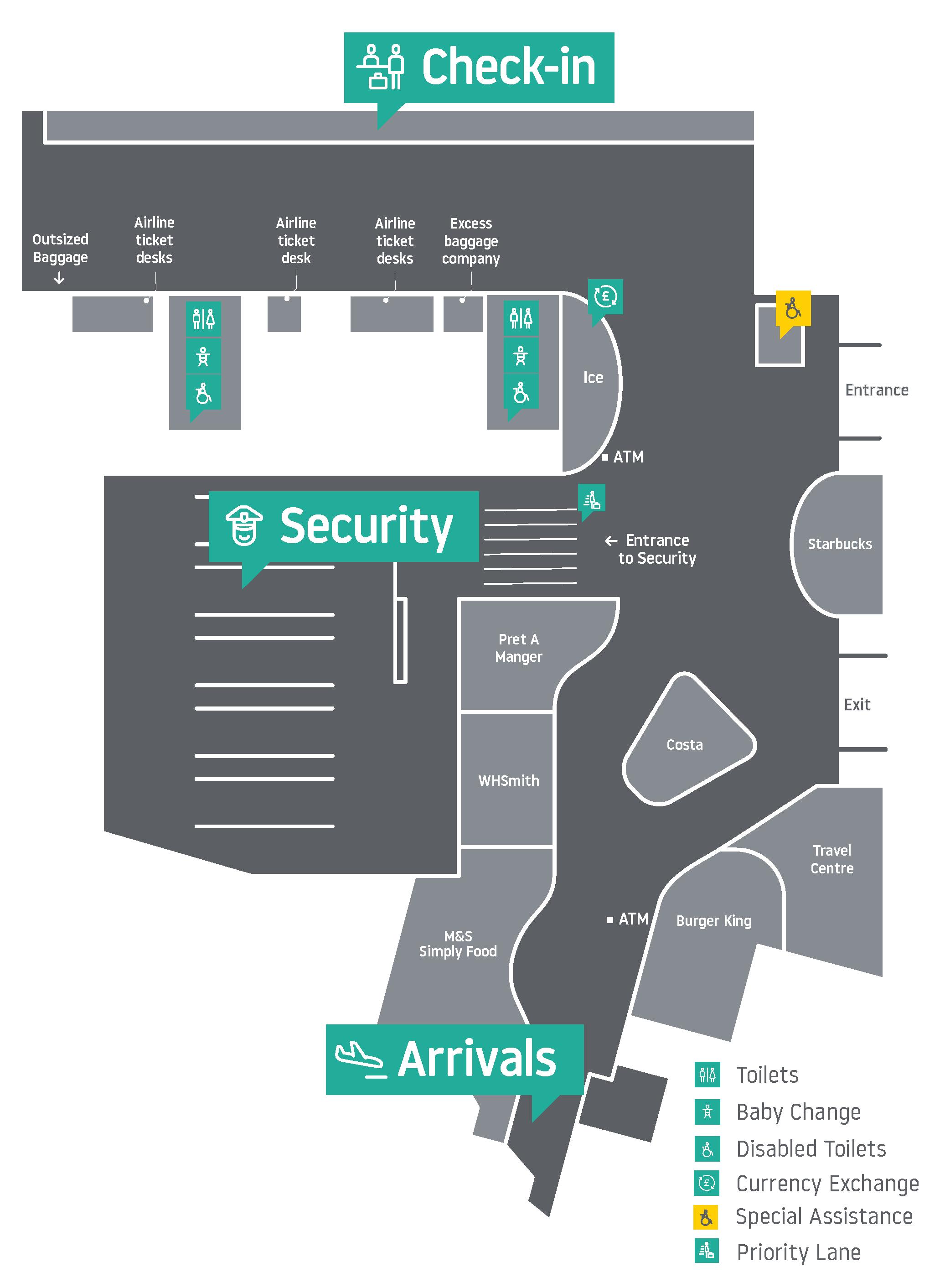Mapa aerodroma Luton