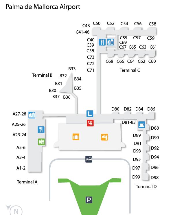 mapa aerodroma