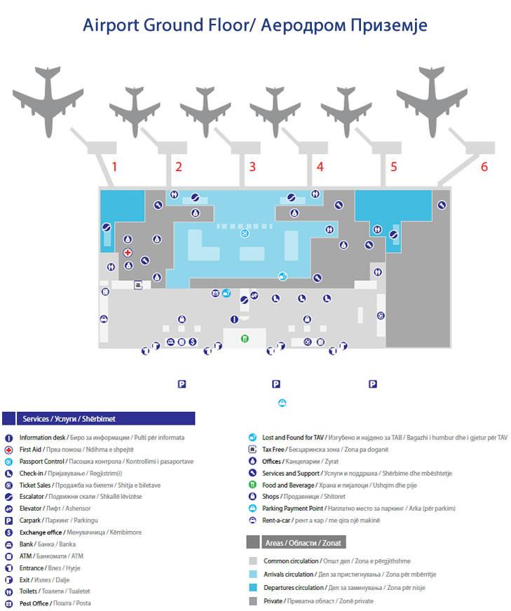 Aleksandar Veliki Skoplje Aerodrom Red Letenja Poletanja Sletanja Abago